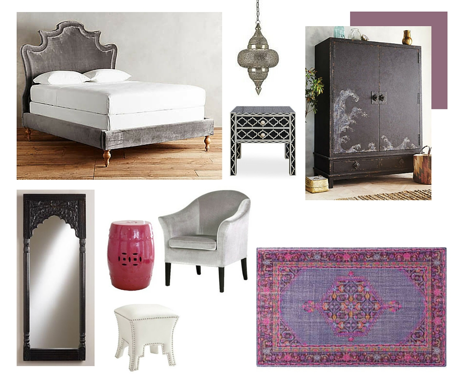 Cot In A Box Morocco Turquoise: Room In A Box: Moroccan Glam Bedroom