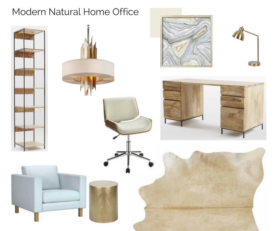 Room in a Box: Modern Natural Home Office - The Interior ... Natural Home Office Design on unusual home offices, sensational home offices, teal blue home offices, luxurious home offices, pretty home offices, interesting home offices, old style home offices,