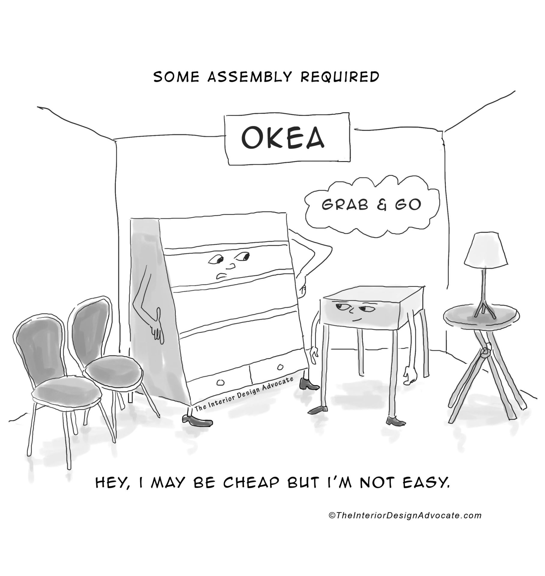 Assembly Required Furniture design giggles: some assembly required - the interior design advocate