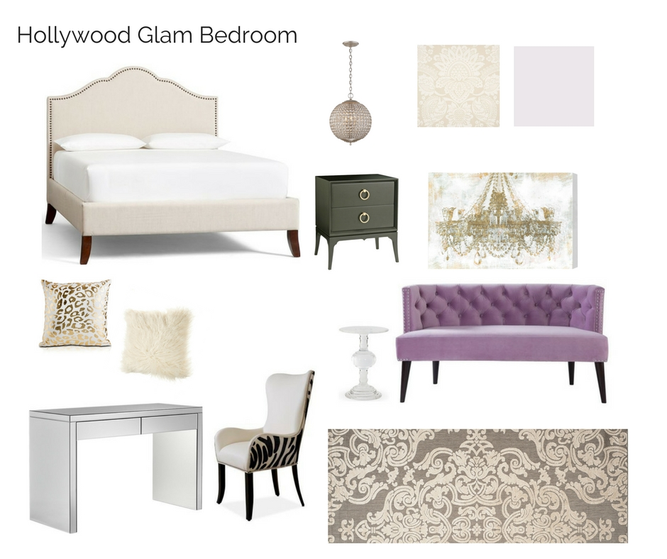 room in a box hollywood glam bedroom the interior design advocate. Black Bedroom Furniture Sets. Home Design Ideas
