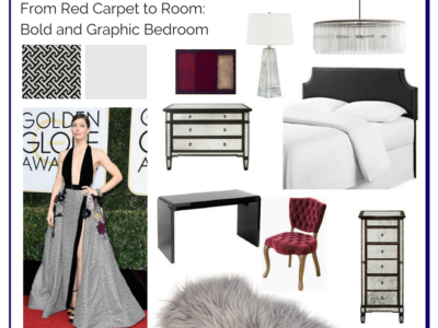 From Red Carpet to Room: Bold and Graphic Bedroom