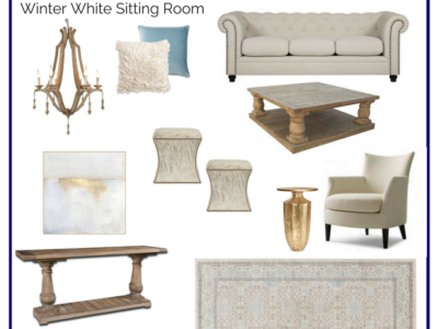 Room In A Box: Winter White Sitting Room