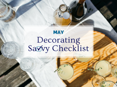 May Decorating Savvy Checklist