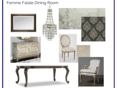 Room in a Box: Femme Fatale Dining Room