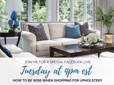 How to be Wise When Shopping for Upholstery