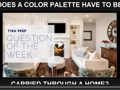 Does a Color Palette Have to be Carried Throughout a Home?