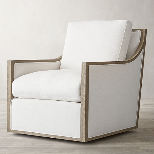 Restoration Hardware Contemporary swivel chair