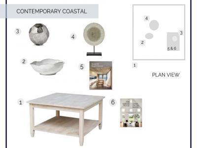 Coffee Table In A Box – Contemporary Coastal